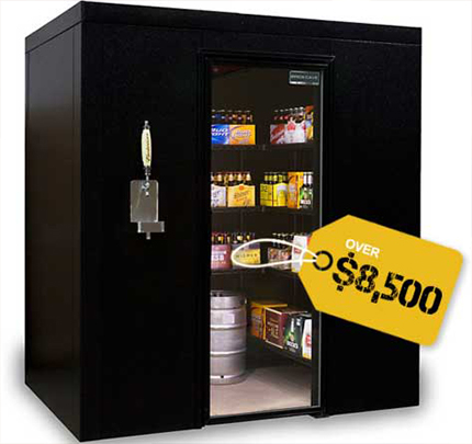 The ultimate man cave for Build your own walk in beer cooler