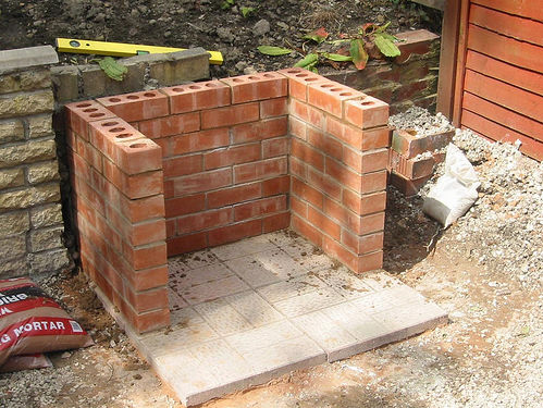 how to build a brick barbeque. Black Bedroom Furniture Sets. Home Design Ideas