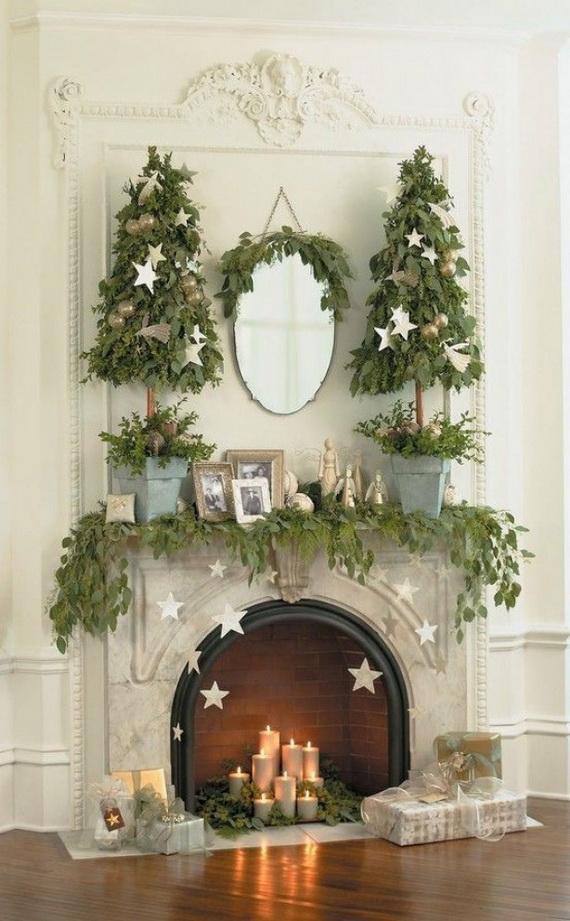 Gorgeous-Fireplace-Mantel-Christmas-Decoration-Ideas-1