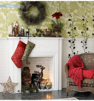 Holiday Christmas Fall decor - interior design - Fireplace and mantlepiece decor and design - 6