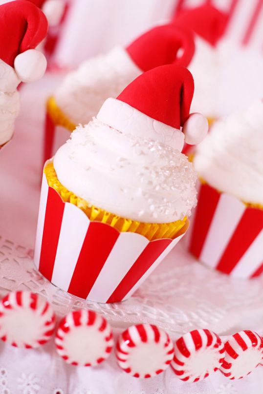 candy santa hat cupcake3 new