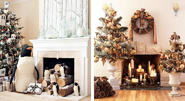 Christmas Fireplace Decorations 1