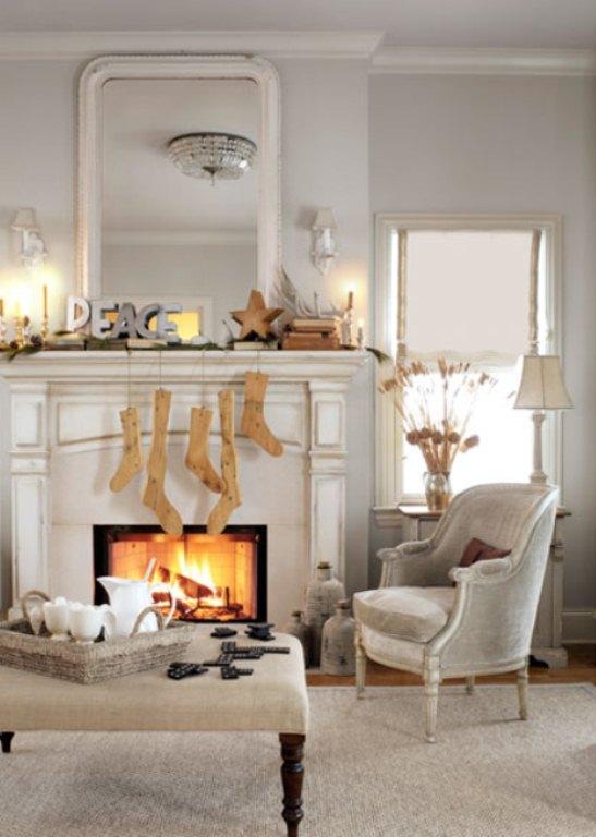inspiring mantelpiece decoration ideas 8 - Mantelpiece Christmas Decoration Ideas