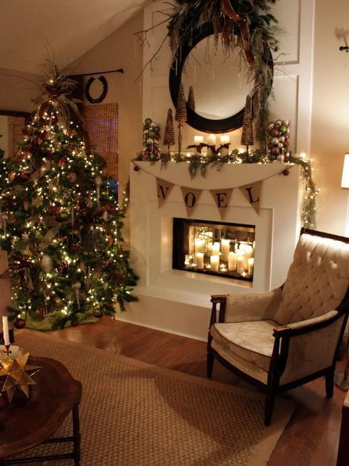Christmas Decorating Living Room Apartment