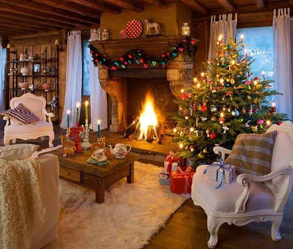10 simple ideas for a cosy christmas living room for Beautiful homes decorated for christmas