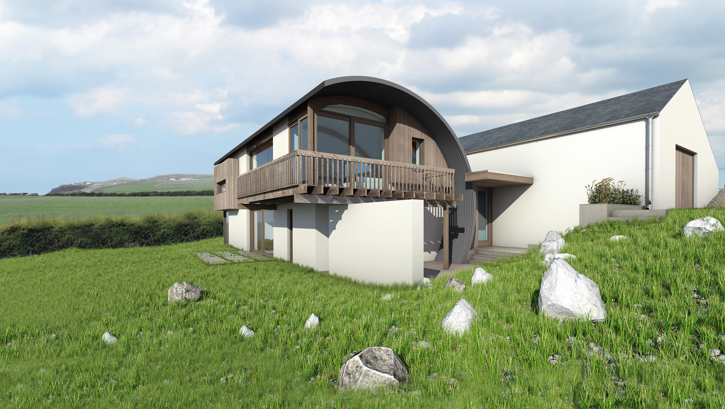 Portrush home to feature on grand designs for Modern house design northern ireland