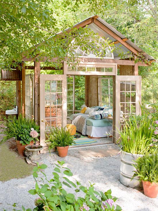 Wooden Framed open plan shed