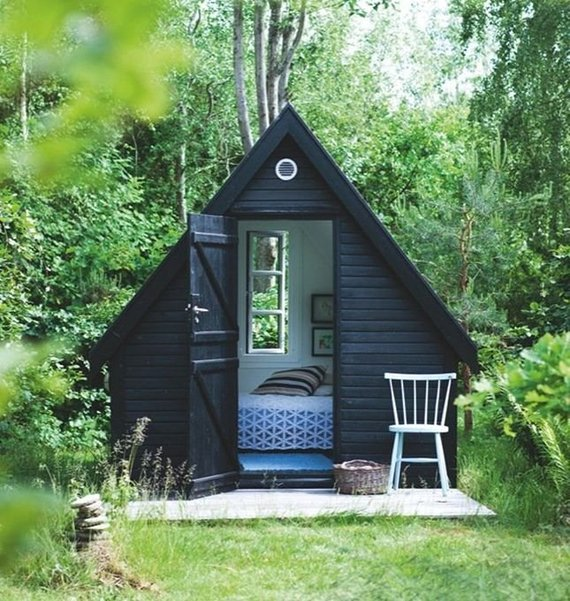 Modern and Minimalist Black She-Shed