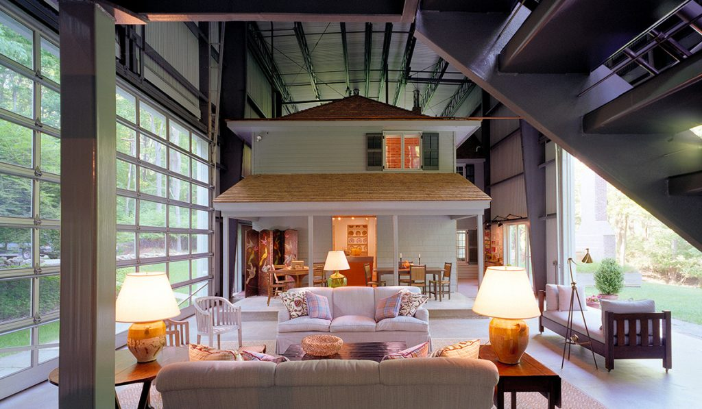 This Architect Lives Inside a House Inside an Aircraft Hangar.