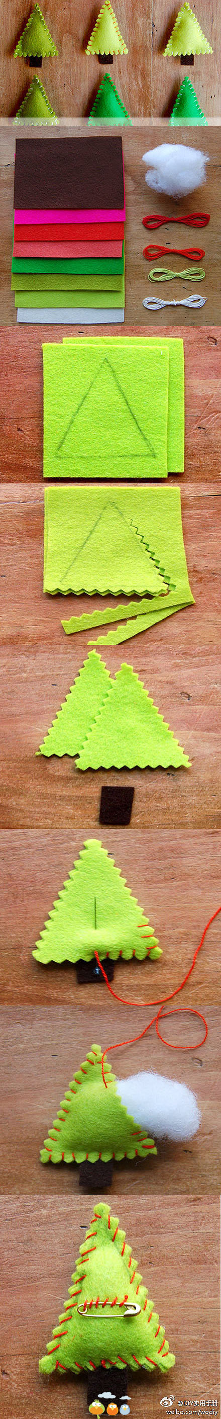 felt Christmas tree decoration