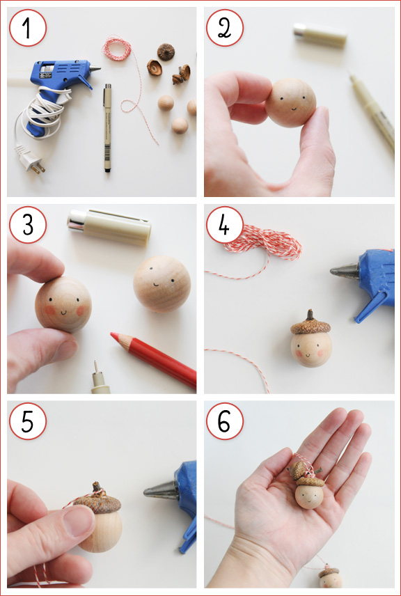 acorn ornament DIY tutorial