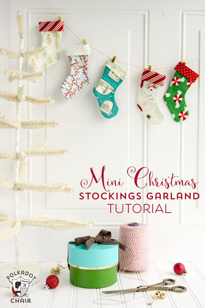 Mini Christmas Stocking Garland