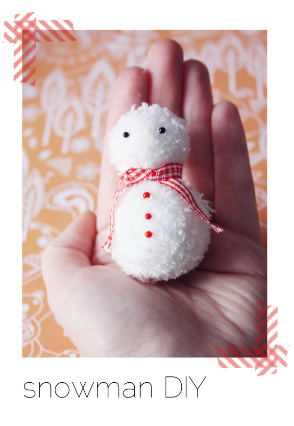 diy snowman christmas decoration
