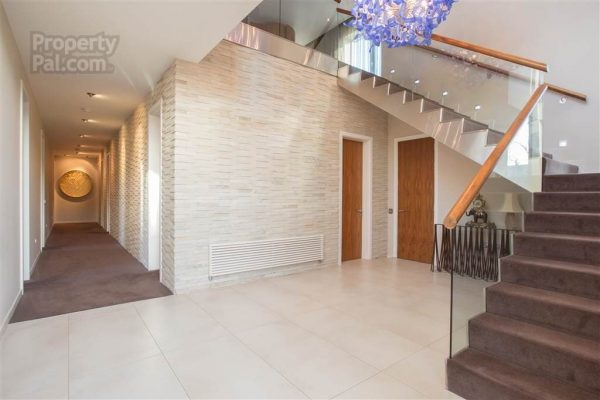 This Glass Panelled Staircase To The First Floor Is A Great Fit In This  Cool And Contemporary Property.